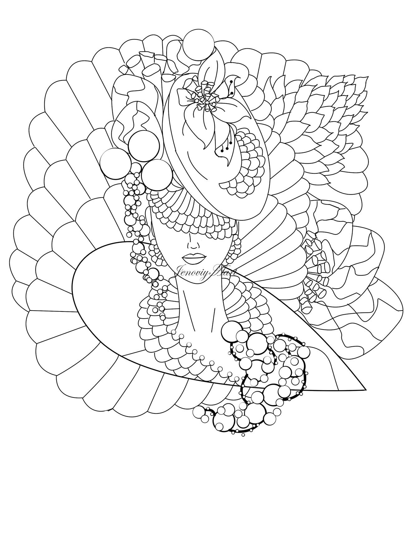 Digital Pages PDF Download Pages Coloring Pages Art Therapy Grown up ...