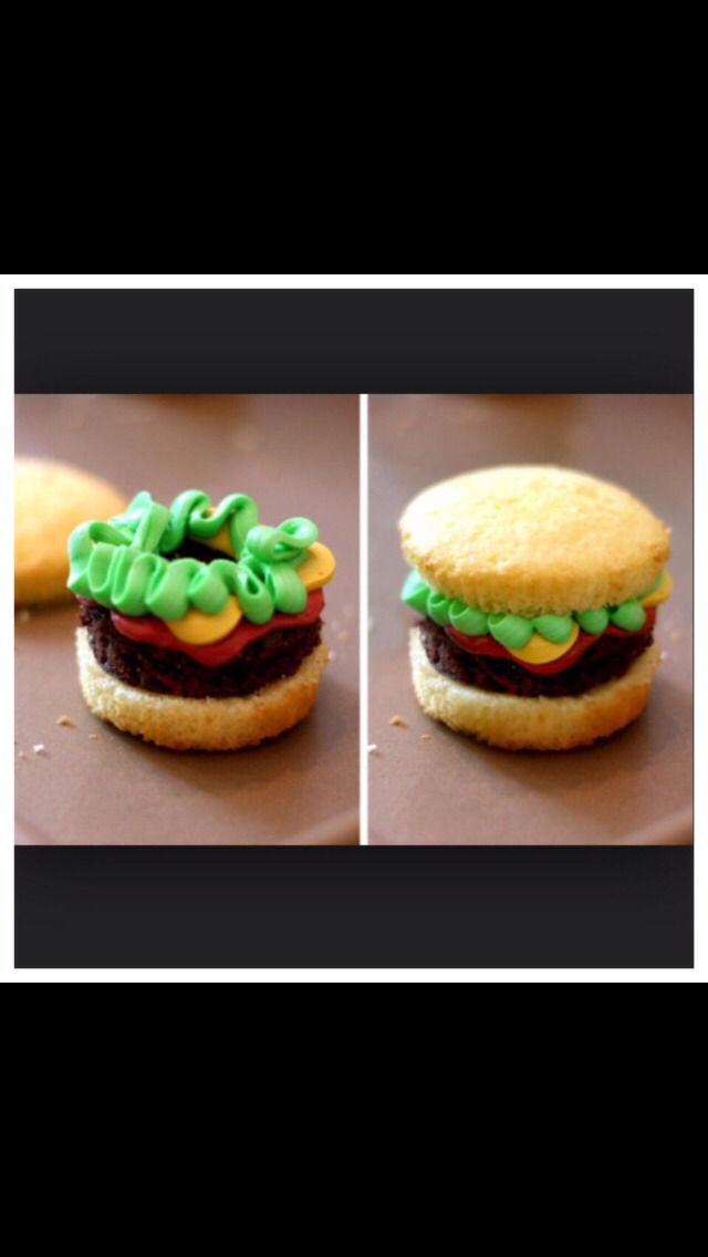 DIY Hamburger Cupcakes! Super Cute And Perfect For Barbecues! #Food #Drink #Trusper #Tip