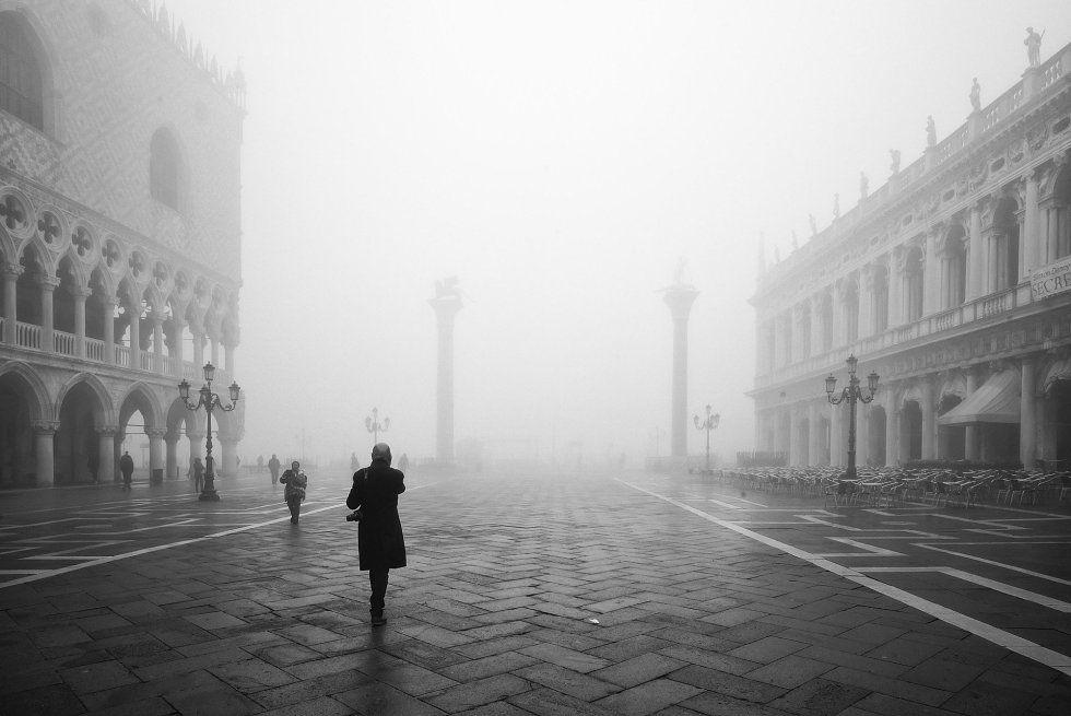 Venecia en la niebla | Winter snow and Italia