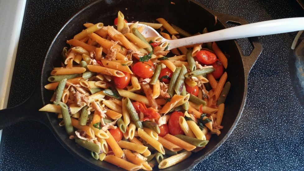 Quick and easy simple penne pasta. Perfect for a fast weeknight meal, just add garlic bread and salad!