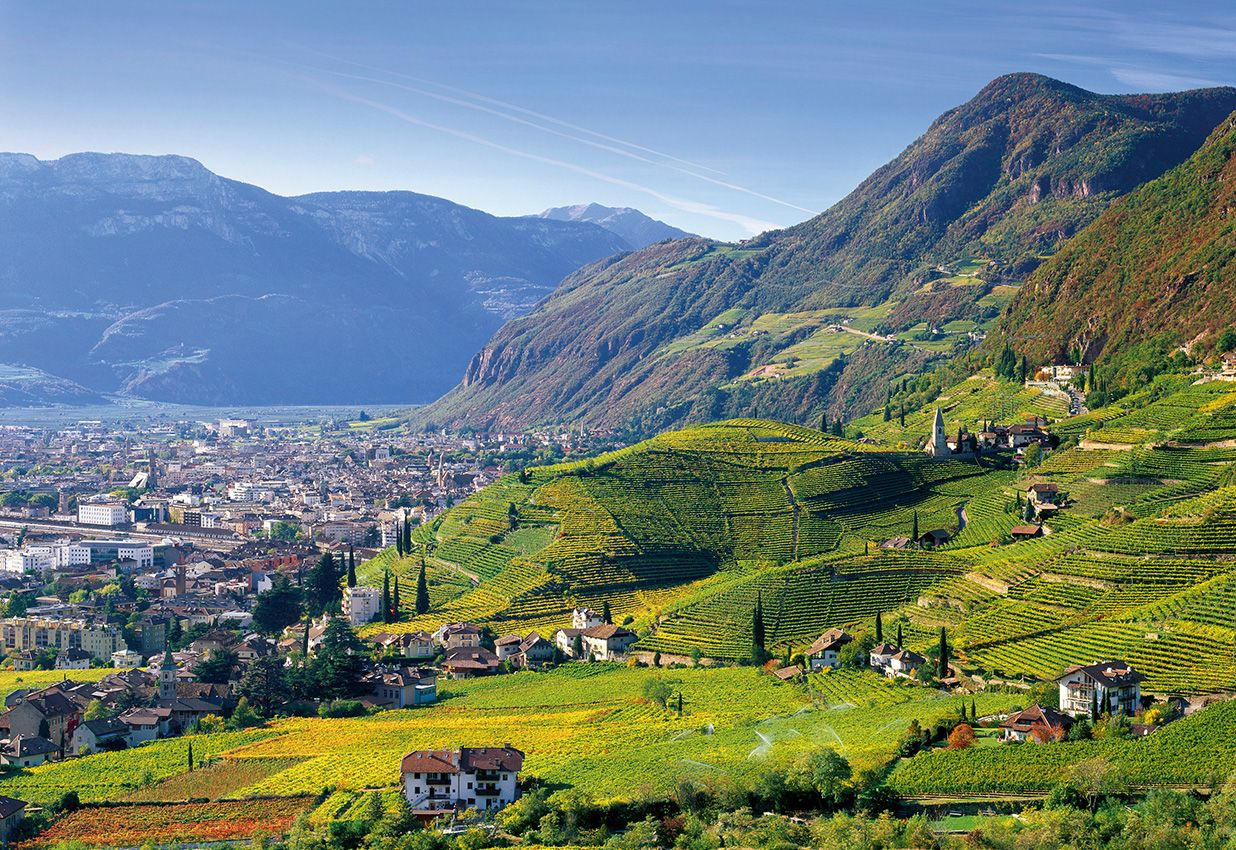Bolzano, quartiere Rencio e Sanata Maddalena visti dall ...