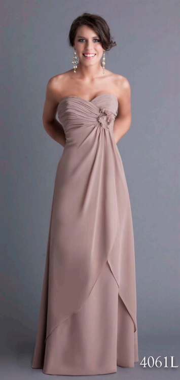 Aurora Bridal, AA4061L, available in all chiffon colours