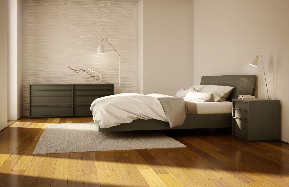 Mobican Urbana Contemporary Wood Bedroom In Slate On Oak