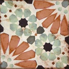 Carreau De Ciment Imitation 20 X 20 Cm Multicolore Lo8501009