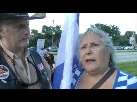 Florida Stands With Israel 8/7/14 Wild Bill for America