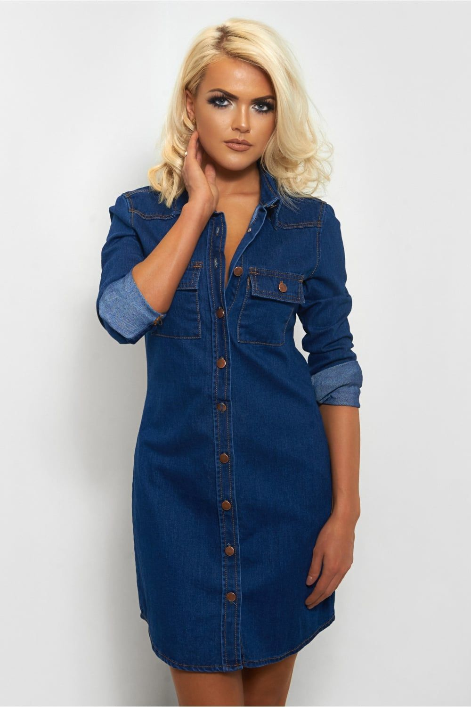 Gigi Blue Denim Shirt Dress - from The Fashion Bible UK | Jean ...