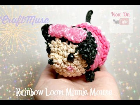 Amigurumi Loom Patterns : Rainbow loom minnie mouse loomigurumi amigurumi youtube adorable