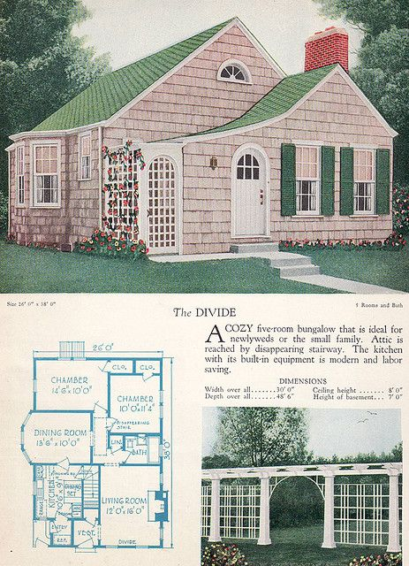 1928 Home Builders Catalog The Divide Small House Plans House Floor Plans Small House