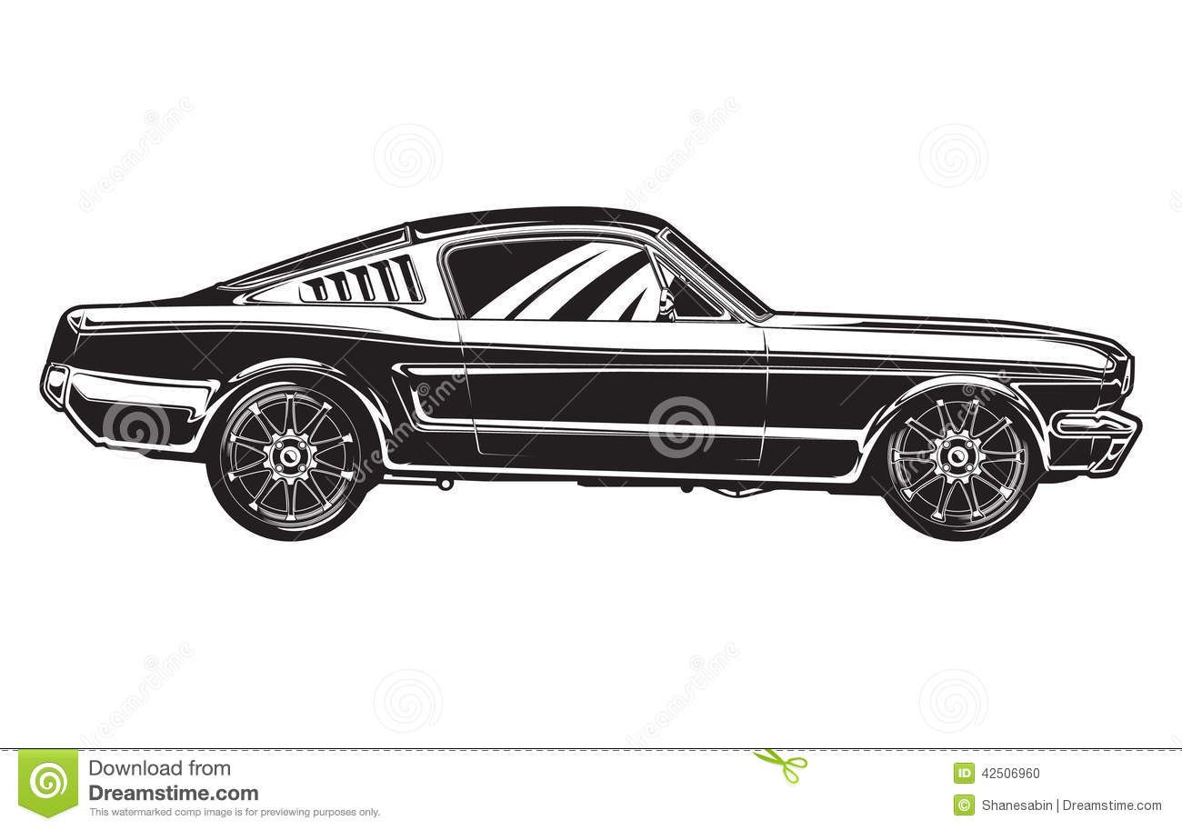 Vector Classic Car Clipart Black And White Clipartfox