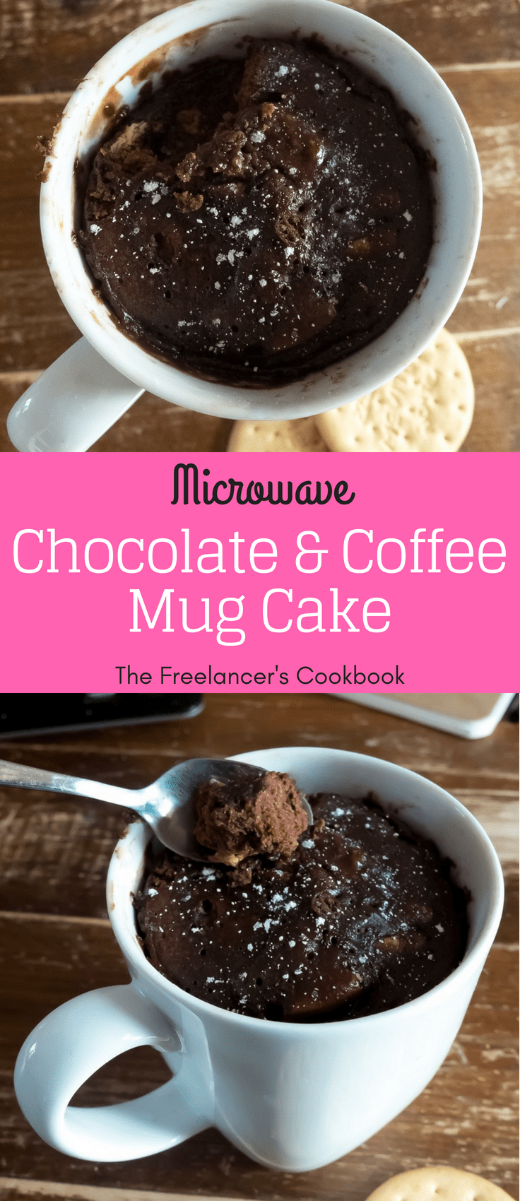 Microwave chocolate & coffee mug cake Coffe mug cake