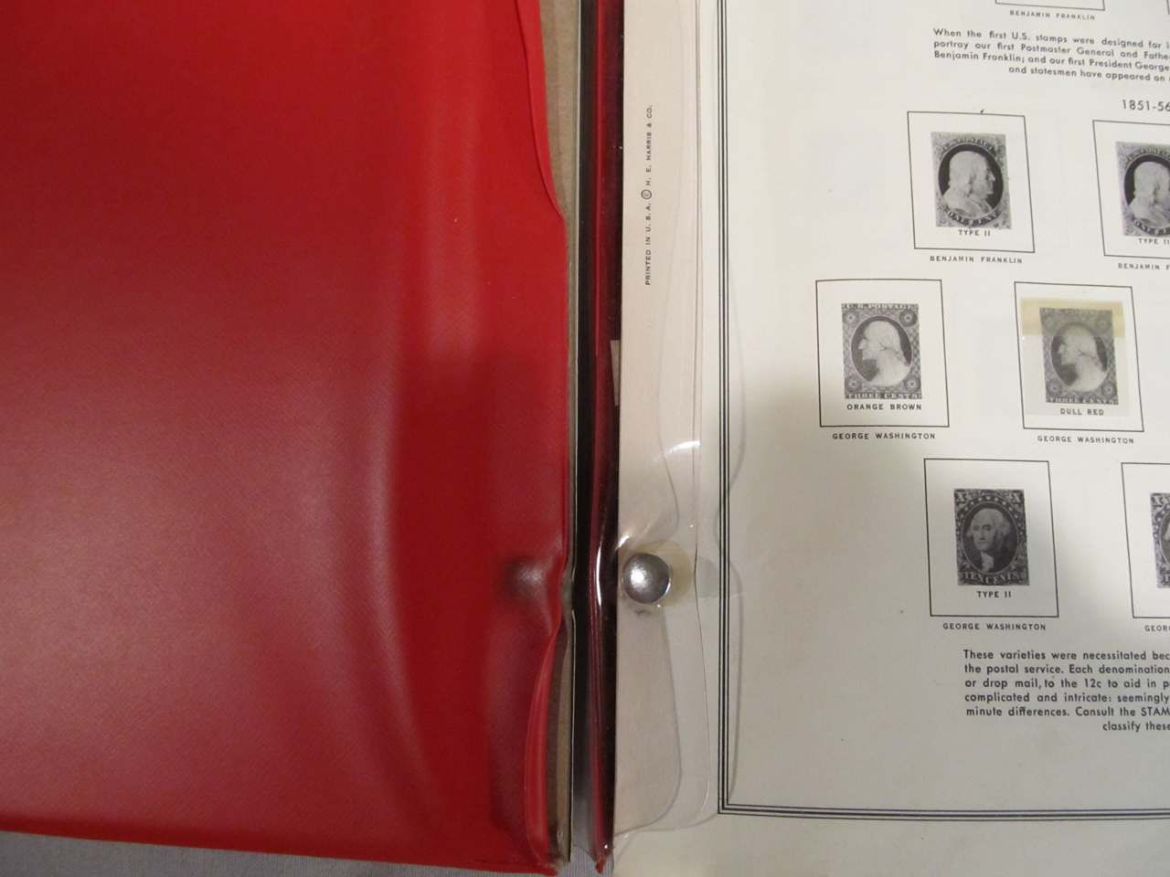 Scott's Minuteman Album - Inside pages and binding with