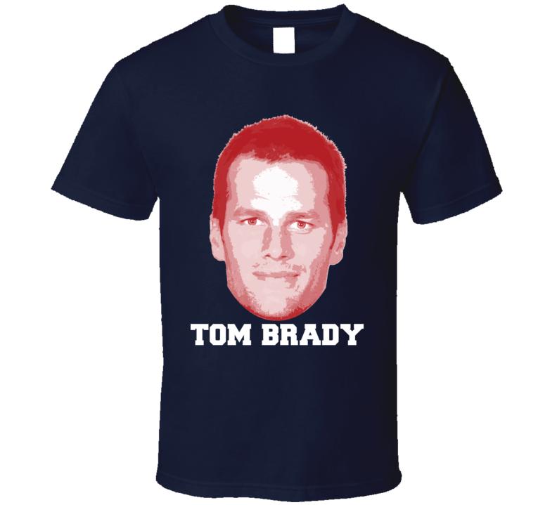 Tom Brady Face Big Head New England Football Player Fan T Shirt New England Football England Football Players Football Tshirts