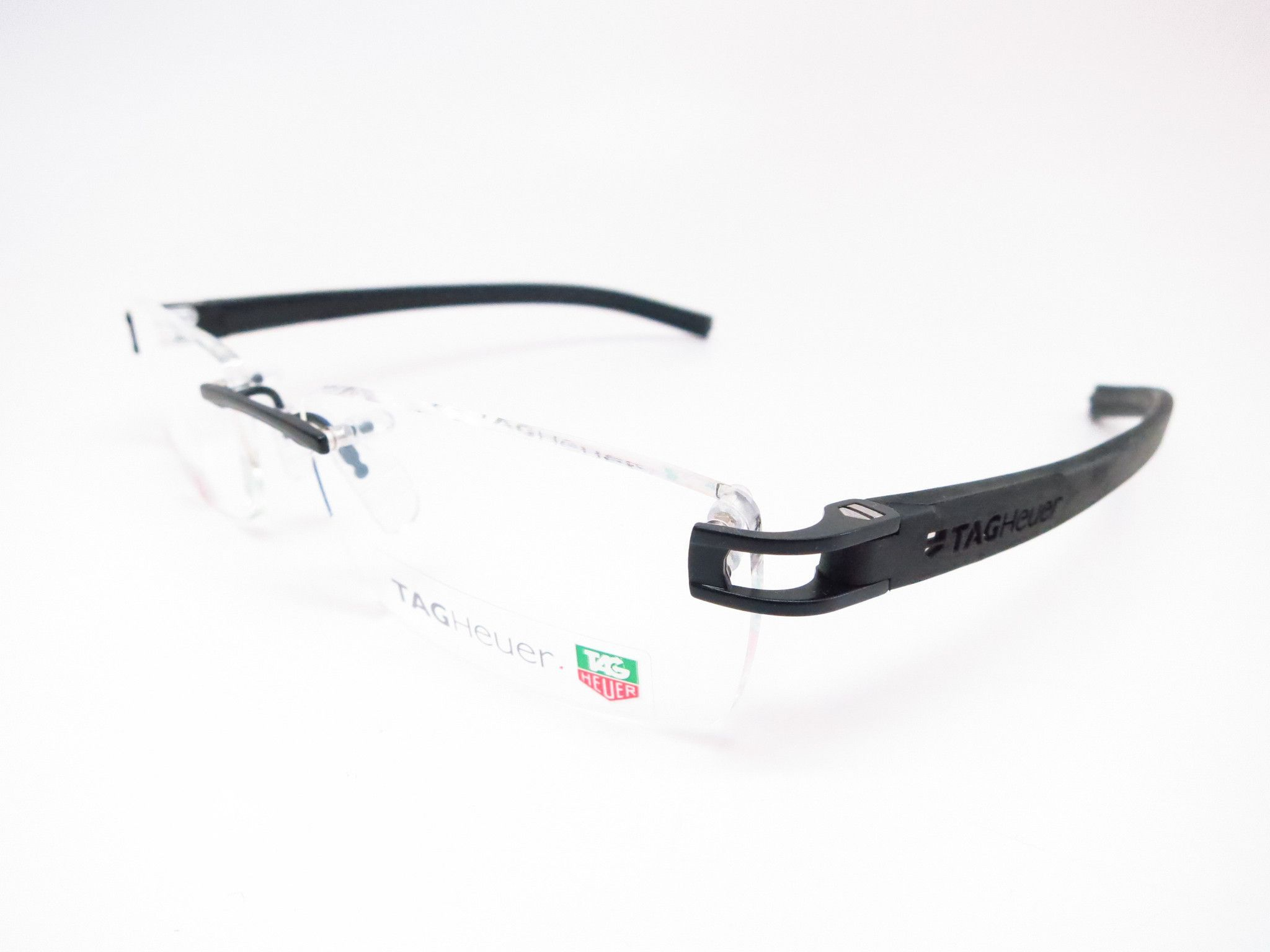 Tag Heuer TH 7643 001 Matte Black Track-S Rimless Eyeglasses ...