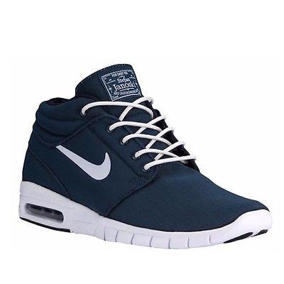 5279bfbaa4 Nike SB Stefan Janoski Max Mid Mens 807507-414 Obsidian Blue Skate Shoes Sz  10.5