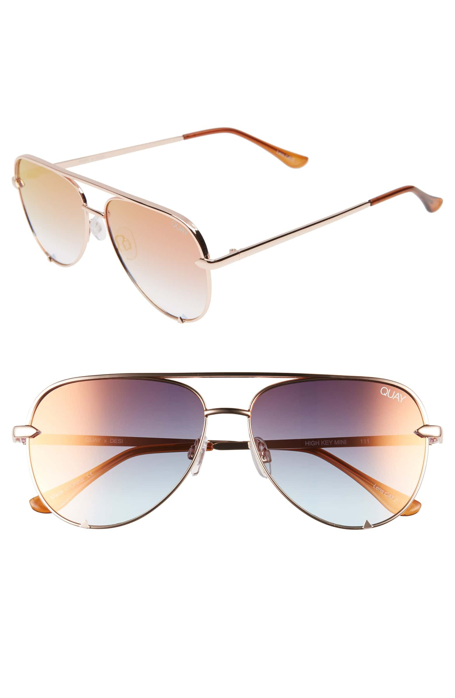 a4586531b4 x Desi Perkins High Key Mini 57mm Aviator Sunglasses
