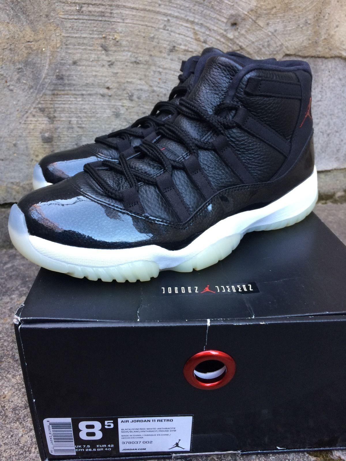 buy popular 2bf64 aa4d1 Nike Air Jordan 11 XI Retro 72-10 Black White Red size 8.5