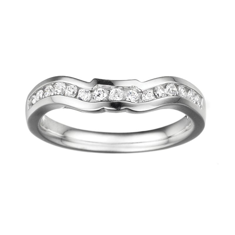 0.30ct Round Diamond Matching Band in 14K White Gold from Amidonjewelers.com