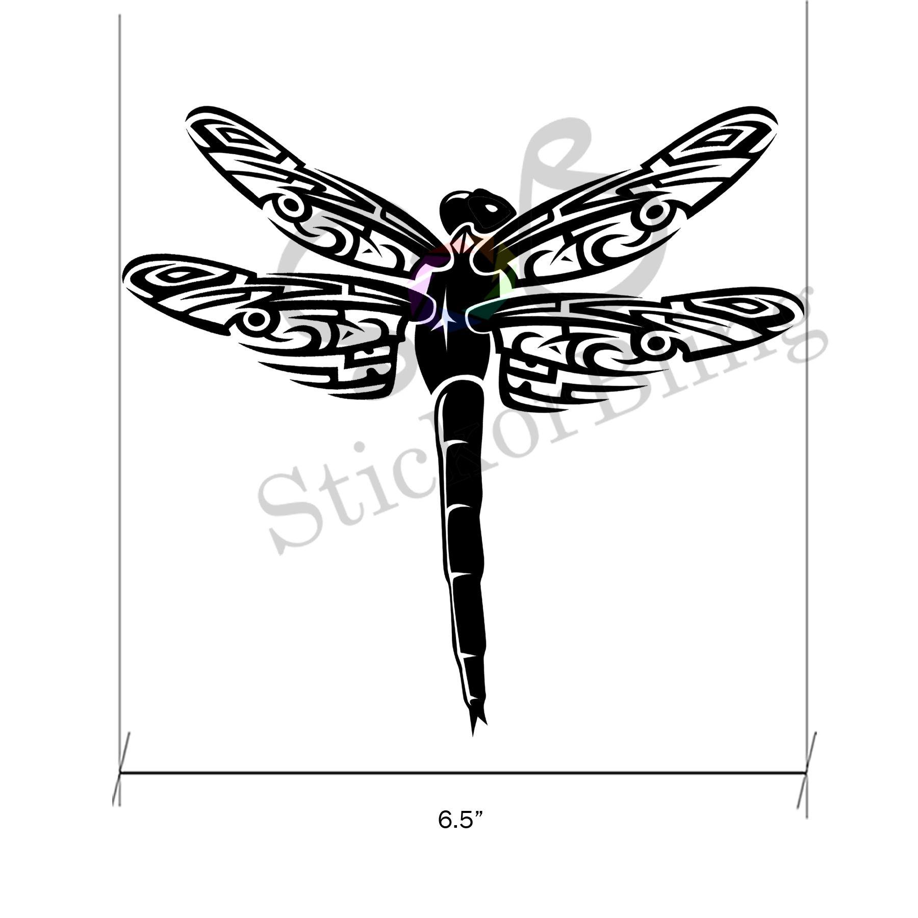 Dragonfly Tribal Die Cut Vinyl Decal Sticker Car Window - Die cut vinyl decal stickers