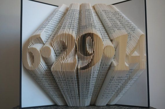 St anniversary gift book sculpture st wedding by bookart our