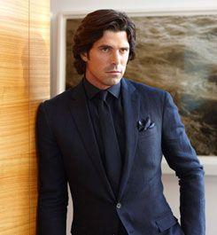 The monochromatic look ralph lauren style guide men 39 s for Navy suit black shirt