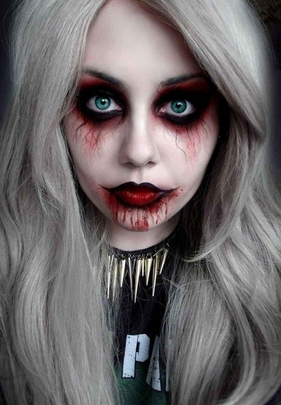 Scary halloween make up ideas for women cool DIY halloween ideas ...