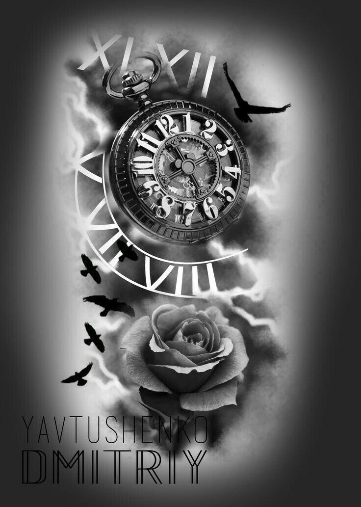 pingl par israel sur tattoos pinterest tatouages tatouages du temps et montre de poche. Black Bedroom Furniture Sets. Home Design Ideas