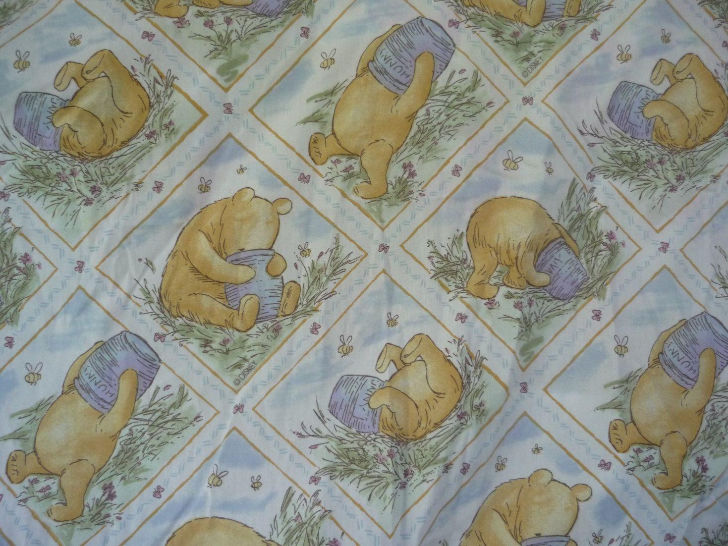 Classic Winnie Pooh Fabric - Google Nursery