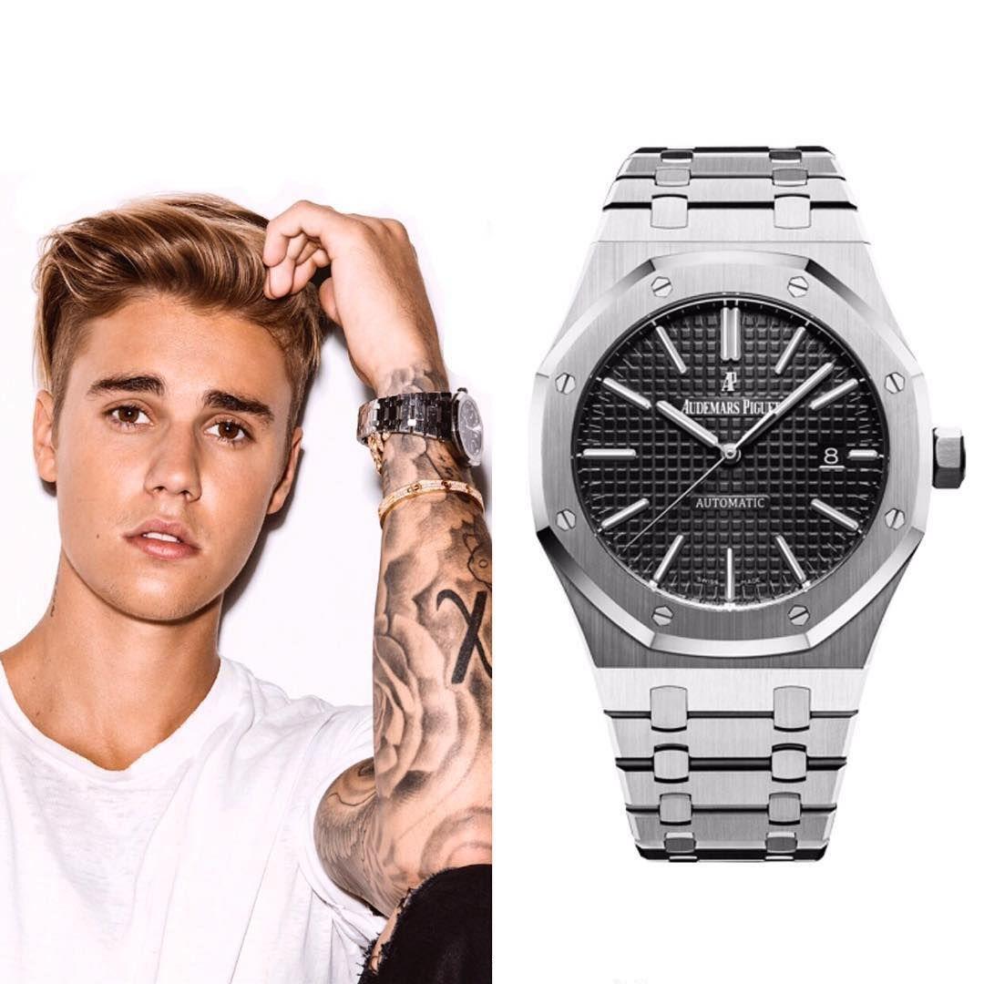 Justin Bieber Wears A Audemars Piguet Royal Oak 41mm Automatic
