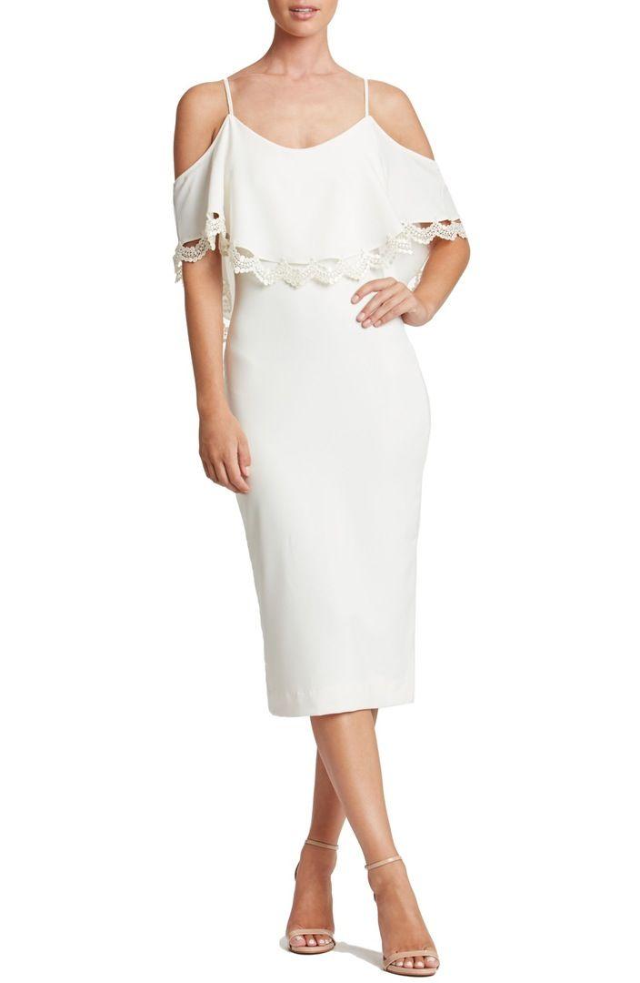 Main Image - Dress the Population Beth Cold Shoulder Dress