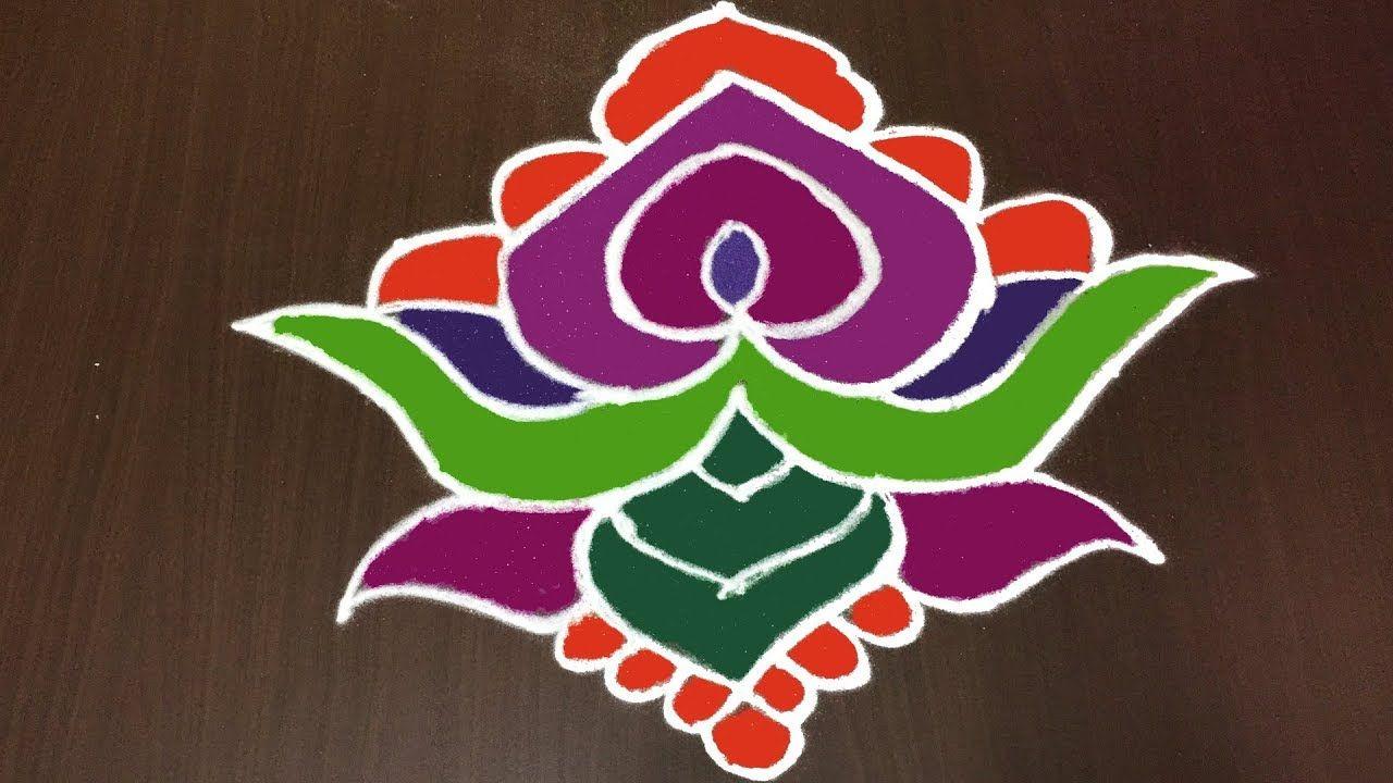 Pin by Rangoli Designs on 9 to 1 dots Simple rangoli