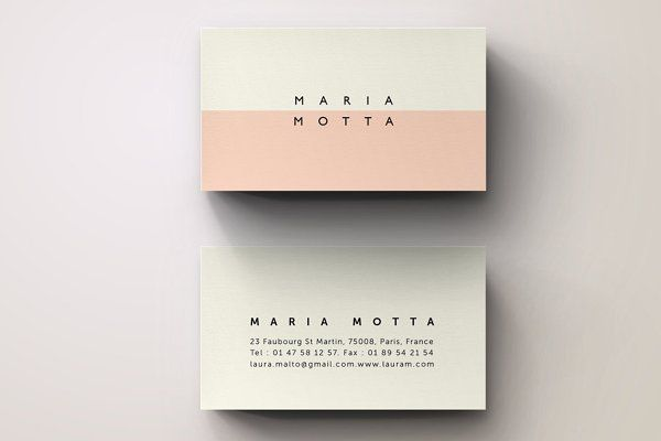 pink modern business card template business cards カード