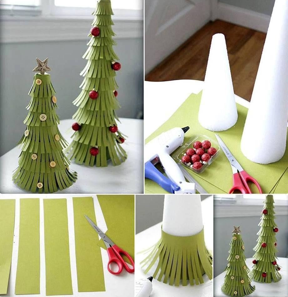Easy fringed paper christmas trees chrithmas pinterest