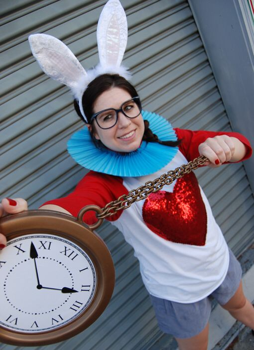 White rabbit costume More