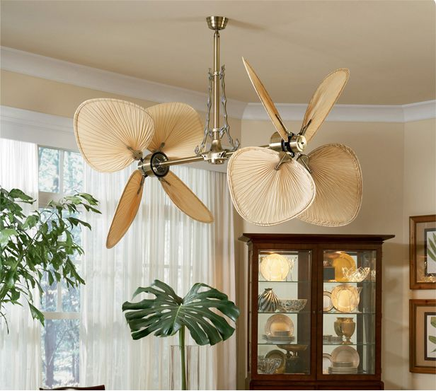 Palm Blade Tropical Ceiling Fan For Great Room Description From