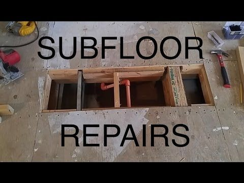 Diy Damaged Plywood Subfloor Repair Patch Youtube Mobile Homes