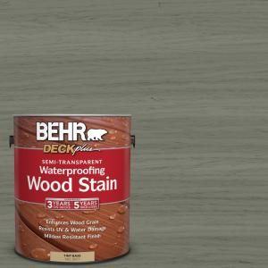 Behr Deckplus 1 Gal St 137 Drift Gray Semi Transparent Waterproofing Exterior Wood Stain 307701 With Images Staining Wood Exterior Wood Stain Staining Deck