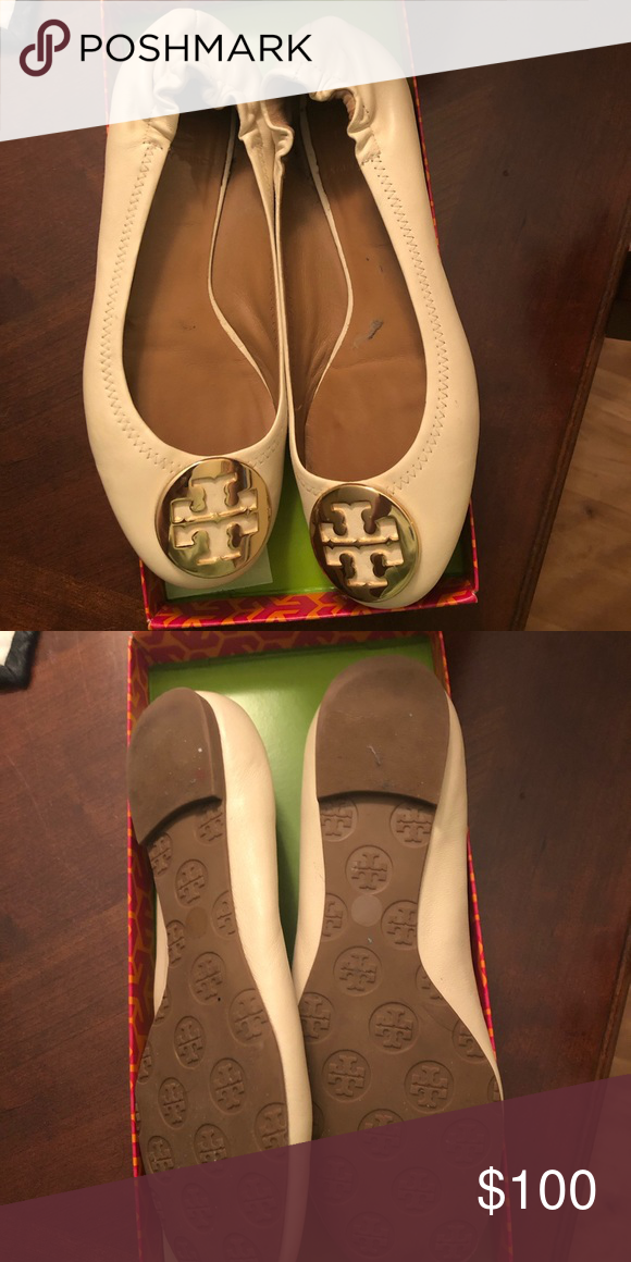 37e25447d2d Tory Burch Reva Flats Style no 51138200 color- vanilla cream gold Reva  mestico