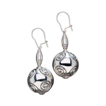Kalevala Koru / Kalevala Jewelry / Halikon käätykorut -korvakorut / Halikko Earrings/ Material: bronze or silver