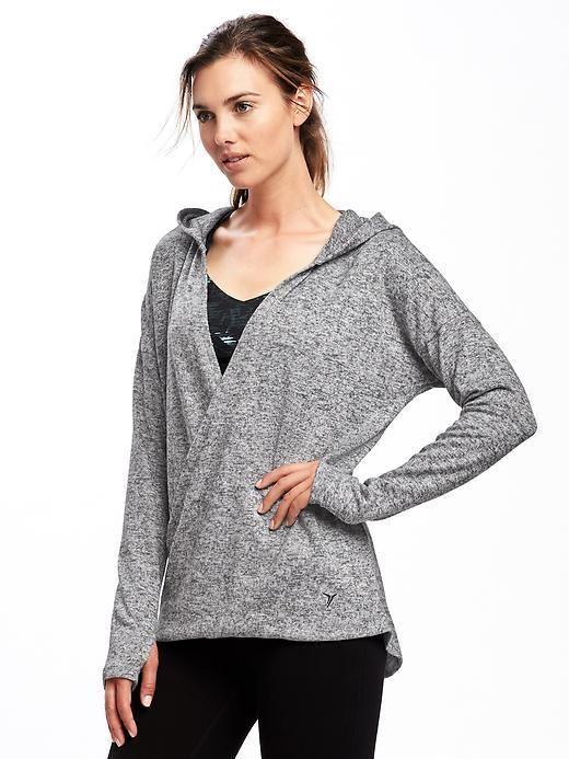 Go-Warm Front-Wrap Fleece Hoodie for Women