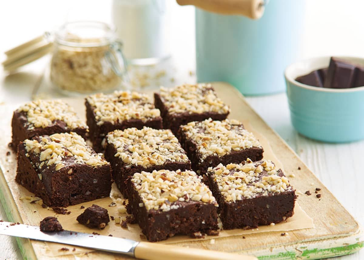 Devilishly delicious dark chocolate brownies with a nutty twist!