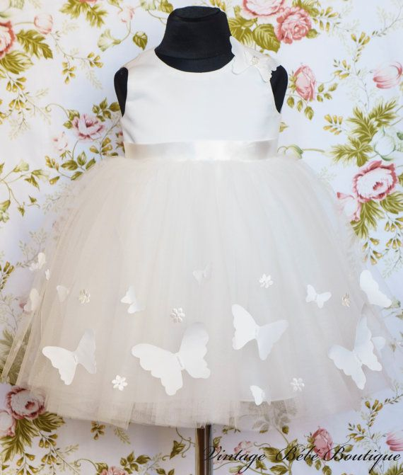 Christening dress Flower girl dress Girl tutu dress Birthday dress ...