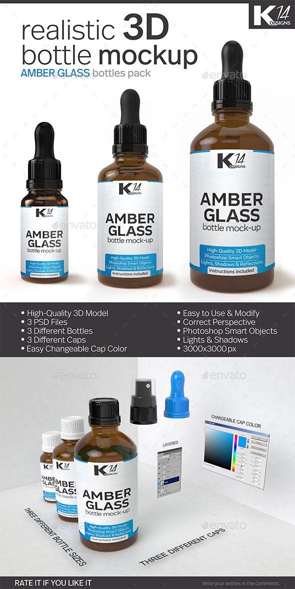 Amber Glass Bottle Mock-Up #design Download: http://graphicriver.net/item/amber-glass-bottle-mockup/13194208?ref=ksioks