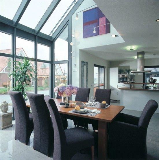 Fertighaus Wohnidee Küche und Esszimmer CENTRO Extension - küche mit esszimmer