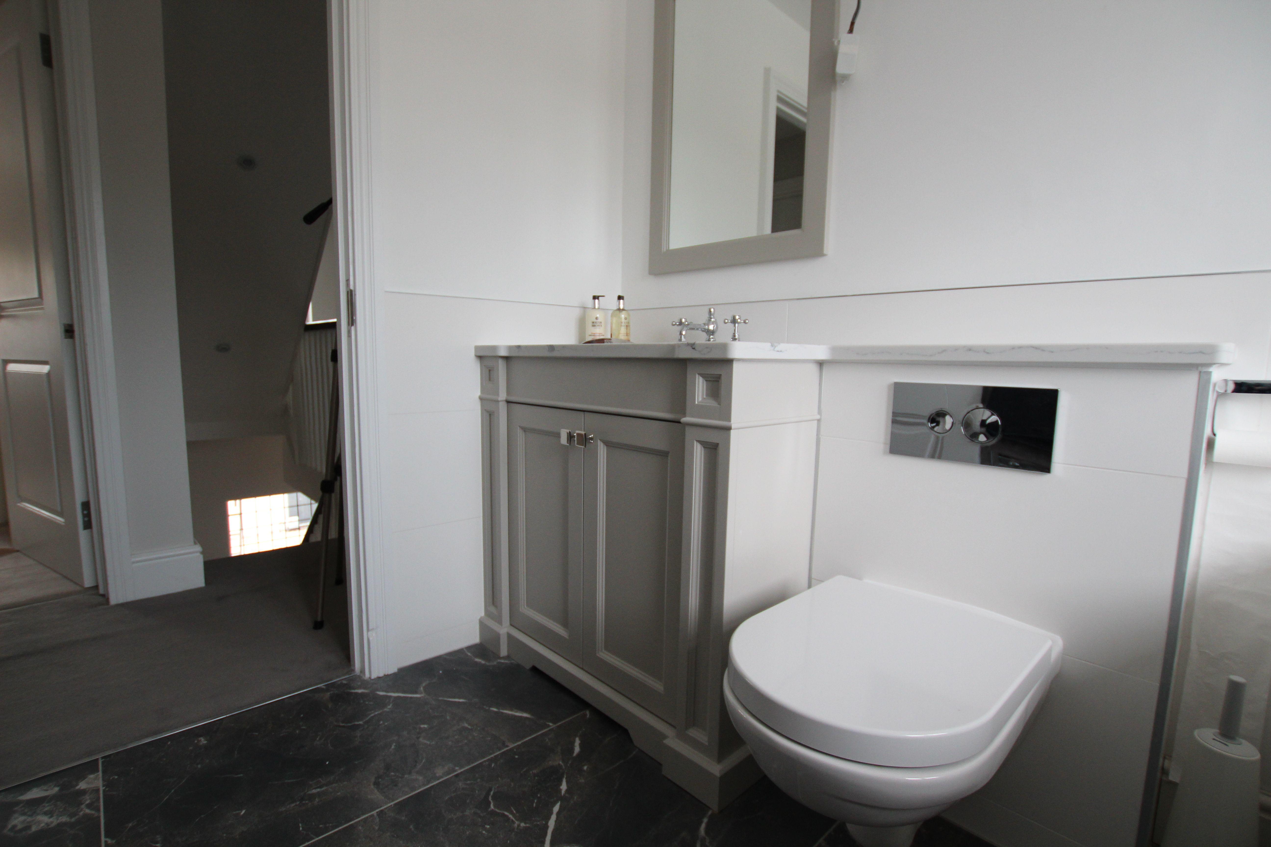 Main bathroom vanity unit traditional style shaker doors vanity