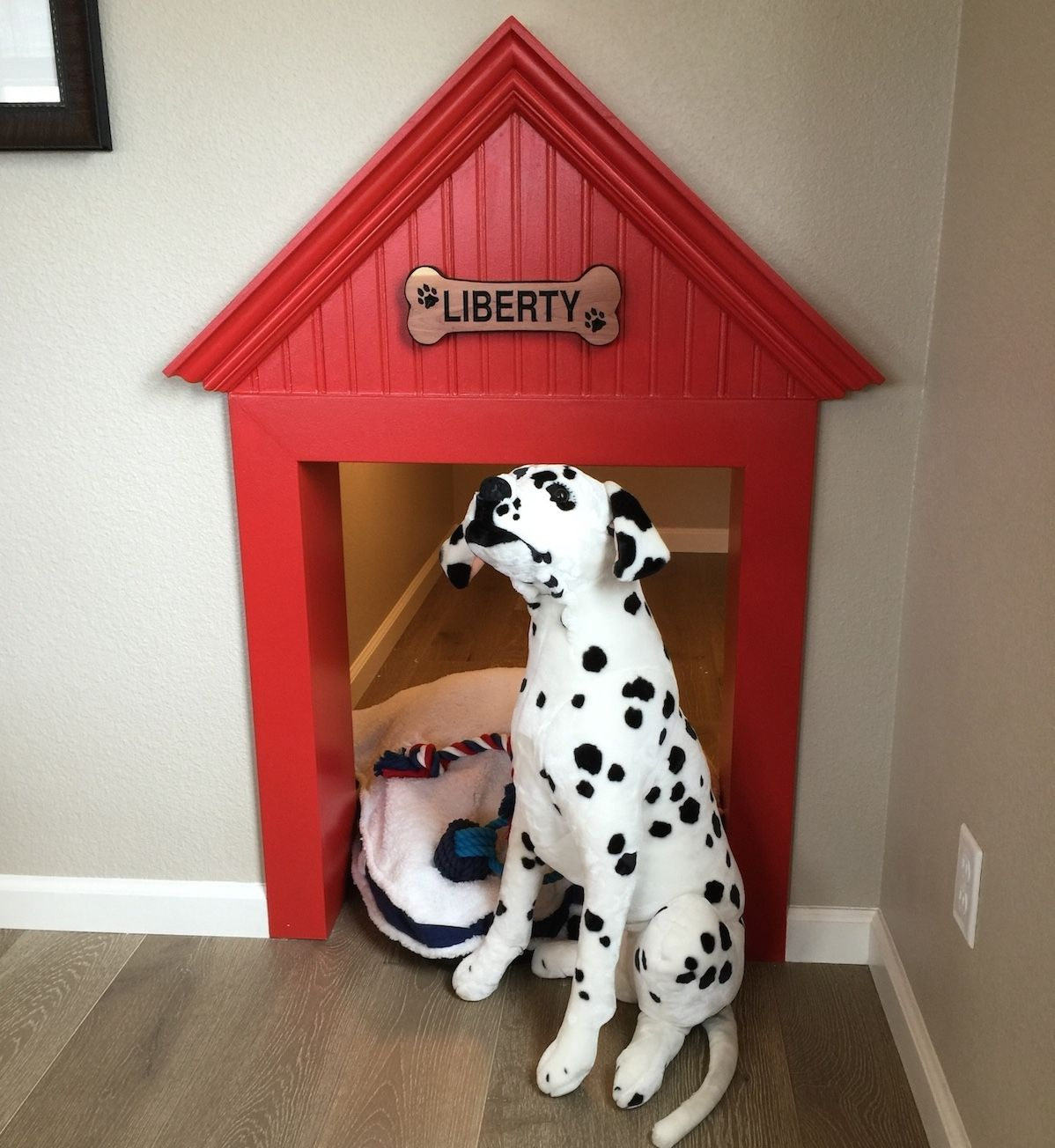 Doesn't your dog deserve a custom dog home? This dog house
