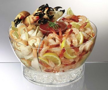 Ice Chilled Food Bowl prawns