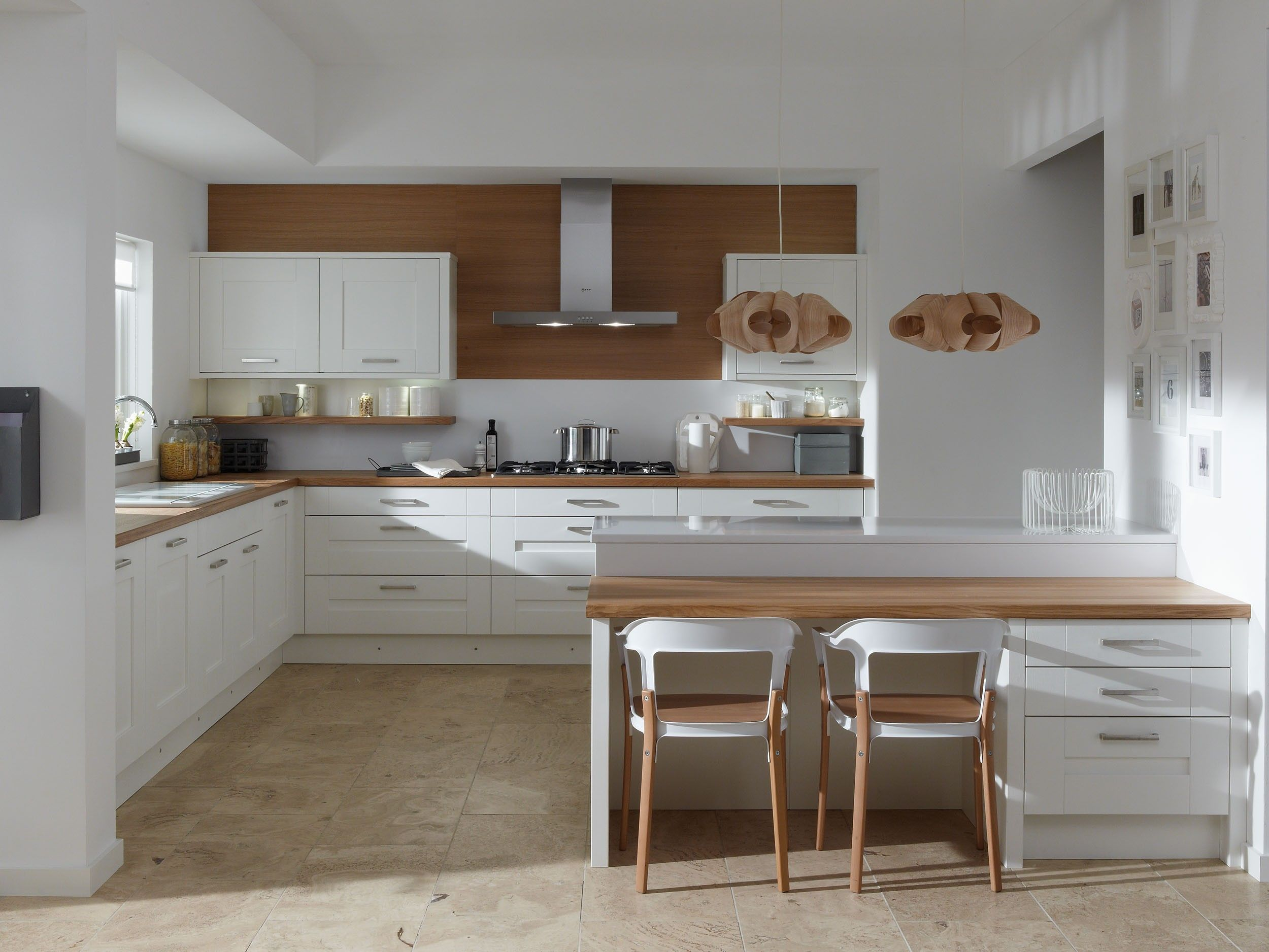 Breathtaking Interior Small Kitchen Remodel Ideas Featuring White U Shape  Wooden Kitchen Cabinet Have A Natural