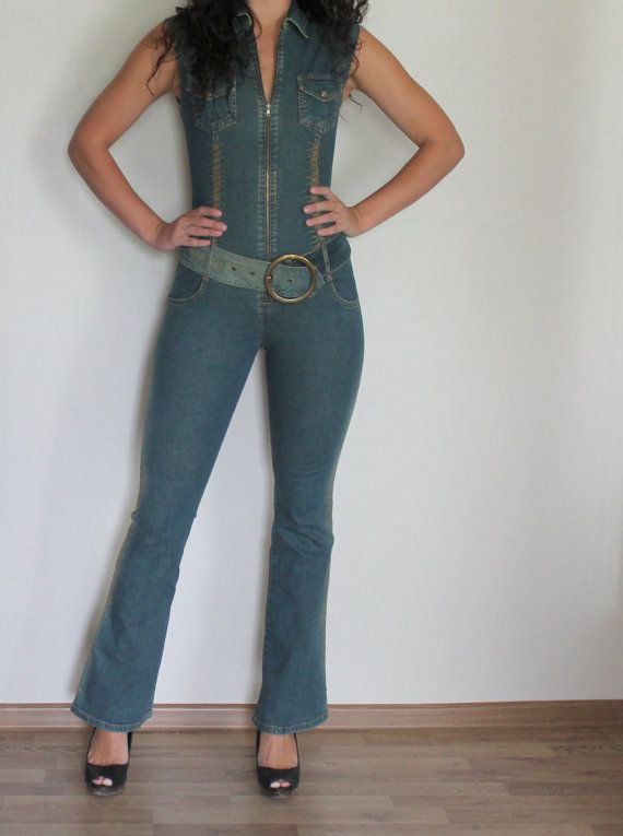 Hey, I found this really awesome Etsy listing at https://www.etsy.com/listing/201652251/women-denim-jumpsuit-one-piece-romper
