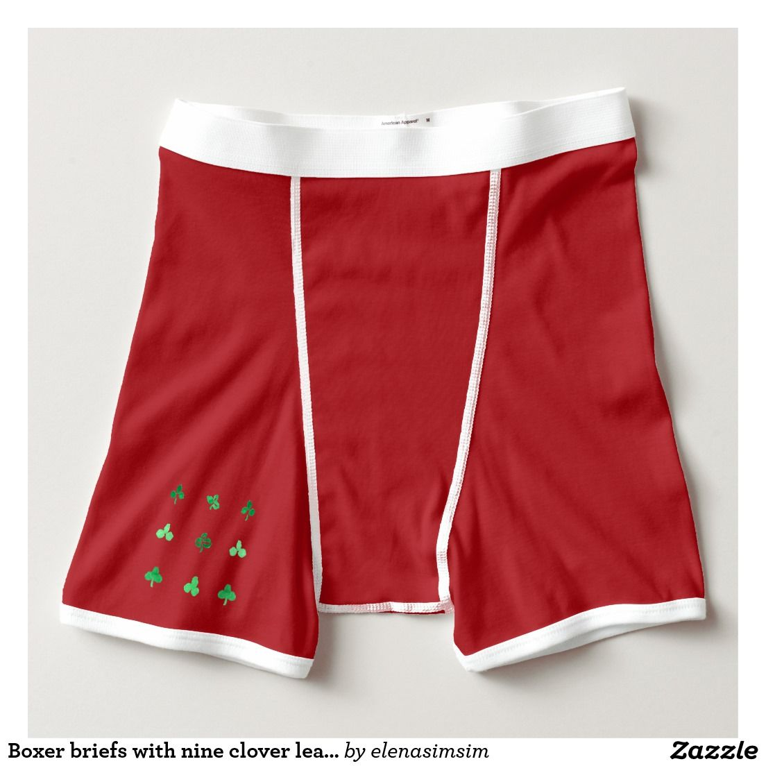 Boxer briefs with nine clover leaves
