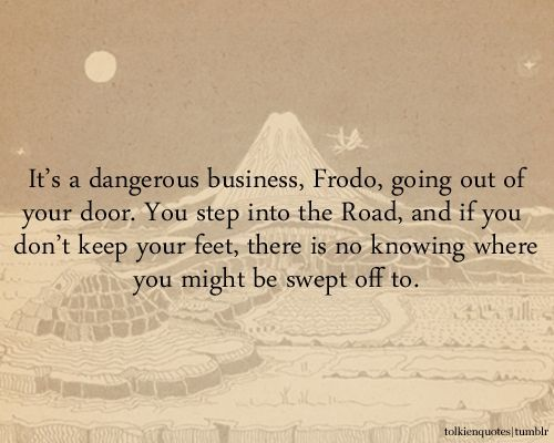 Bilbo Baggins Quotes Road. QuotesGram